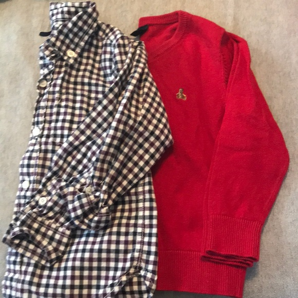 GAP Other - Gap boys 3t sweater and button up